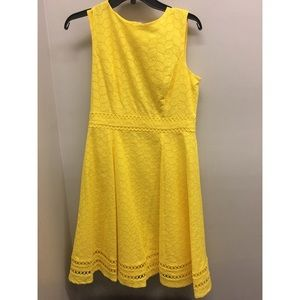 NWOT Calvin Klein yellow embroided sun dress size6